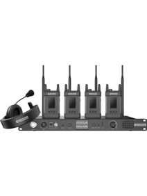Hollyland Syscom 1000T-4CH Full-Duplex Intercom System with Four Beltpacks and Headsets