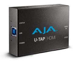 AJA U-TAP-HDMI HD/SD USB 3.0 capture device for Mac/Windows/Linux with HDMI input, Bus powered