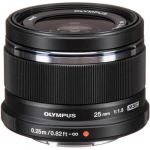 Olympus M.Zuiko Digital 25mm f/1.8 MFT Lens (Black)