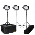 Ikan IFD576-KIT with 3 X IFD576 Lights w/ AB and V-Mount Battery Plates