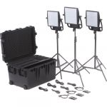 Litepanels Astra 6X Traveler Bi-Color Trio 3xLED Panel Kit with Gold Mount Battery Brackets
