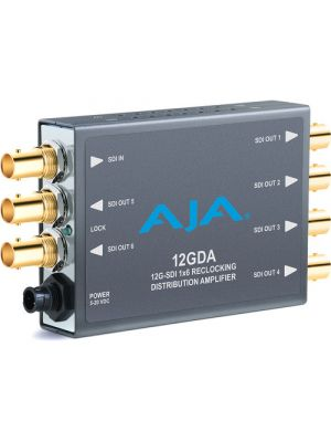 AJA 12GDA 12G/6G/3G/SD-SDI Reclocking Distribution Amplifier
