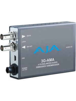 AJA 3G-AMA 3G-SDI 4-Ch Analog Audio Embedder/Disembedder Mini-Config support
