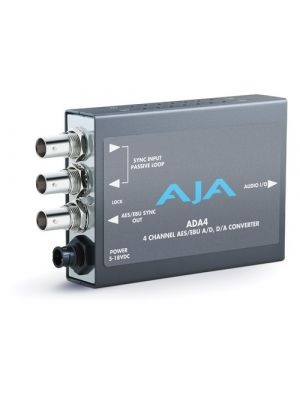 AJA ADA4 Audio A/D and D/A Converter, 4-Ch Bidirectional, balanced XLR