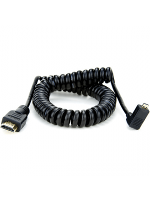 Atomos Right-Angle Micro-HDMI (Type-D) to Full-HDMI Coiled Cable (65 cm Extended)