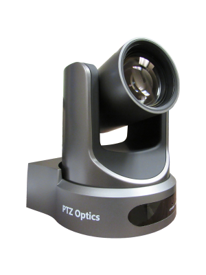 PTZOptics PT12X-USB-GY-G2 • PTZ Camera • 12x Optical • USB 3.0, IP Network RJ45, HDMI, CVBS • 1920 x 1080p • 72.5° FOV (Gray)