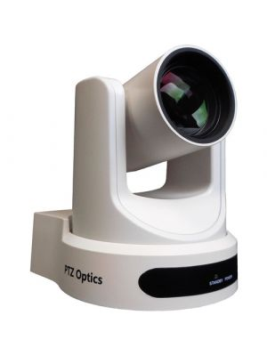 PTZOptics PT12X-USB-WH-G2 • PTZ Camera • 12x Optical • USB 3.0, IP Network RJ45, HDMI, CVBS • 1920 x 1080p • 72.5° FOV (White)