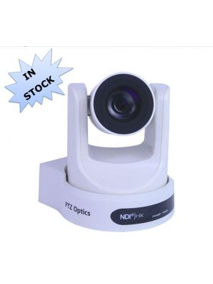 PTZOptics PT30X-NDI-WH • PTZ Camera • 30x Optical • NDI|HX®, 3G-SDI, HDMI, CVBS, IP Streaming • 1920 x 1080p • 60.7° FOV (White)