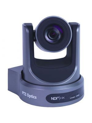 PTZOptics PT30X-NDI-GY • PTZ Camera • 30x Optical • NDI|HX®, 3G-SDI, HDMI, CVBS, IP Streaming • 1920 x 1080p • 60.7° FOV (Gray)