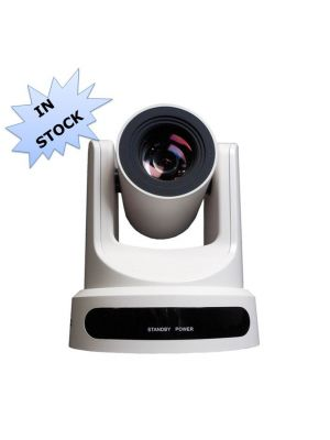 PTZOptics PT20X-NDI-WH • PTZ Camera • 20x Optical • NDI|HX®, 3G-SDI, HDMI, CVBS, IP Streaming • 1920 x 1080p • 60.7° FOV (White)