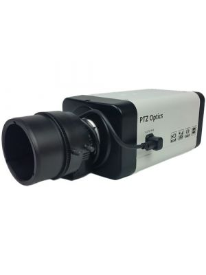 PTZOptics PTVL-ZCAM • Box Camera with 2.8-12mm Varifocal 4x Optical Zoom Lens • 3G-SDI, IP Streaming • 1920 x 1080p (White)