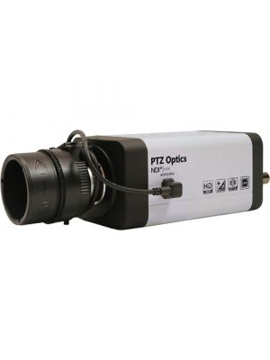 PTZOptics PTVL-NDI-ZCAM • Box Camera with 4.4-88.5mm Lens • NDI|HX®, 3G-SDI, IP Streaming • 1080p60 • 28°-122° FOV (White)
