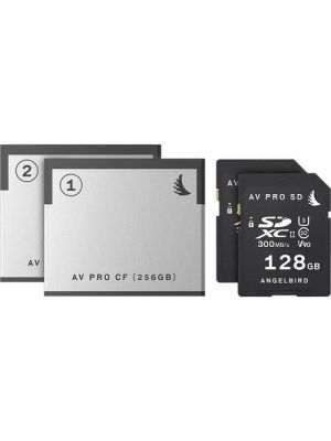 Angelbird Match Pack for the Blackmagic URSA Mini Pro  (2 x 256GB CFast 2.0 Cards + 2 x 128GB AV Pro Mk 2 UHS-II SDXC Cards)