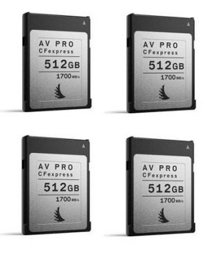 Angelbird 512GB AV Pro CFexpress Type B Memory Card (4-Pack)