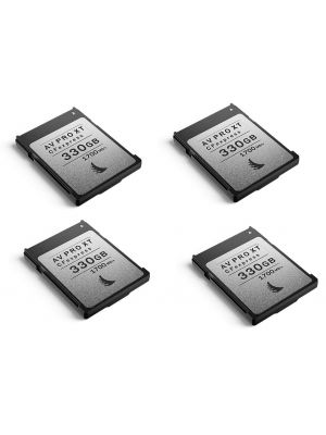 Angelbird 330GB AV Pro CFexpress XT Type B Memory Card (4-Pack)