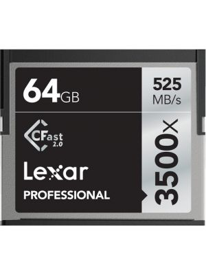 Lexar Professional 3500x 64GB CFast 2.0 Card - Up to 525MB/s