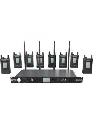Hollyland Syscom 1000T-8CH Full-Duplex Intercom System with Eight Beltpacks and Headsets