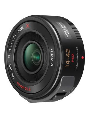 Panasonic Lumix G X Vario PZ 14-42mm f/3.5-5.6 ASPH. POWER O.I.S. MFT Lens (Black)