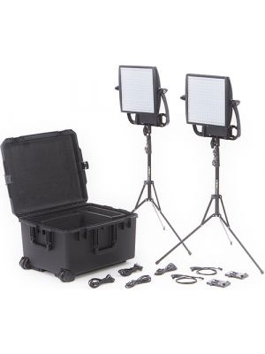 Litepanels Astra 3X Traveler Bi-Color Duo 2xLED Panel Kit with V-Mount Battery Brackets