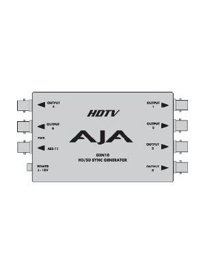 AJA GEN10 - HD/SD/AES Sync Generator with Power Supply