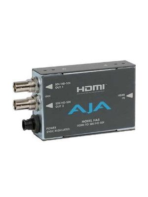 AJA HA5 HDMI to SDI/HD-SDI Video and Audio Converter with Power Supply