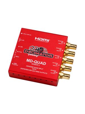 Decimator MD-QUADv3 3G/HD/SD-SDI Quad Split and HDMI Outputs