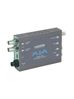 AJA Hi5-3D 3G/HD-SDI Multiplexer to HDMI 1.4a and SDI Converter with Power Supply