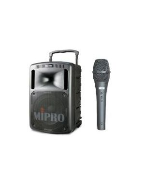 MIPRO MA808PAB 265W PA System with Corded Handheld Microphone (No Receiver)