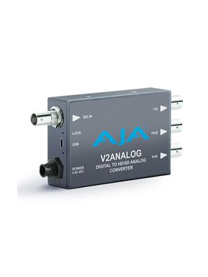 AJA V2Analog HD/SD-SDI Digital to HD/SD Analog Mini-Converter