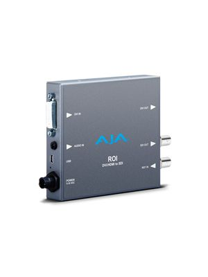 AJA ROI-DVI: DVI to SDI Scan Converter with Region of Interest Scaling Software