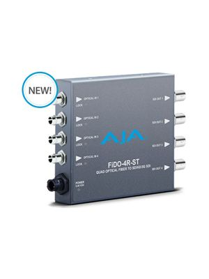 AJA FiDO-4R-ST Quad Channel ST Fiber to 3G-SDI Mini-Converter
