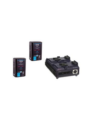 IDX 2x E-HL10DS Batteries and 1x VL-2PLUS 2-Channel Sequential Quick Charger