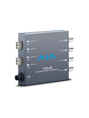 AJA FiDO-4R 4-channel Optical Fiber to 3G-SDI