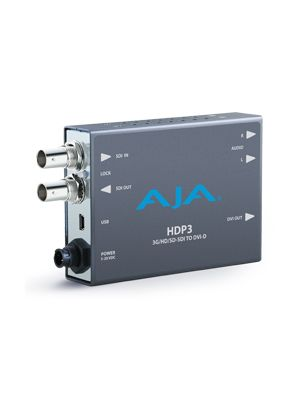 AJA HDP3 3G-SDI to DVI with 1080p 60p support, high quality scaler, 2-Ch unbalanced audio output