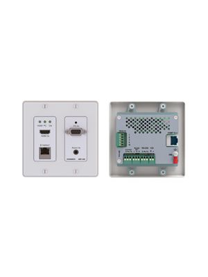 Kramer WP-20 Active Wall Plate/White - 4K UHD HDMI & Computer Graphics with Ethernet, Bidirectional RS-232 & Stereo Audio over HDBaseT Transmitter