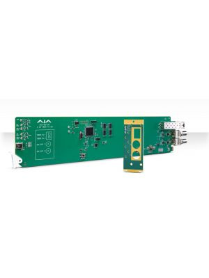 AJA OG-FiDO-2R-MM OpenGear 2-Channel Multi-Mode LC Fiber to 3G-SDI Receiver with Dashboard Support