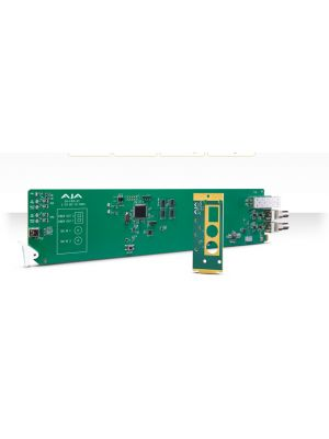 AJA OG-FiDO-2T-X OpenGear 2-Channel 3G-SDI to Single Mode LC Fiber Transmitter for CWDM with DashBoard Support