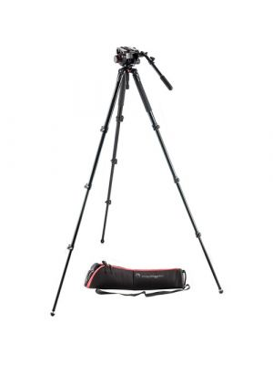 Manfrotto 504HD Fluid Head & MVT535AQ Aluminum Video Tripod Kit