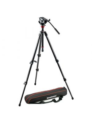Manfrotto MVH500AH Fluid Head & 755CX3 MagFibre Tripod with Carrying Bag