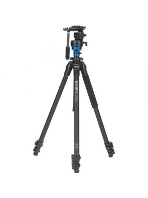 Benro A1883FS2C Aero2  Travel Angel Video Tripod Kit - A1883F with Leveling Column and S2C Head