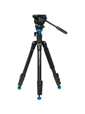 Benro A2883FS4 Aero4 Travel Angel Video Tripod Kit - A2883F with Leveling Column & S4 Head