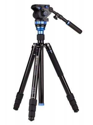 Benro A3883TS7 Aero7 Travel Angel Video Tripod Kit - A3883T with Leveling Column & S7 Head