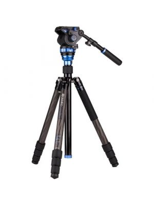 Benro C3883TS7 Aero7 Travel Angel Video Carbon Fibre Tripod Kit - C3883T with Leveling Column & S7 Head