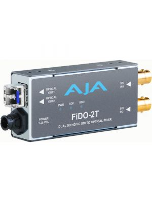 AJA FiDO-2T-X 2-Channel 3G-SDI To LC Fiber Converter (SFP not included)