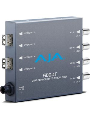 AJA FiDO-4T-MM 4-Channel 3G-SDI to Multi-Mode LC Fiber Transmitter