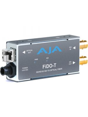 AJA 1-Channel 3G-SDI to Multi-Mode LC Fiber Transmitter