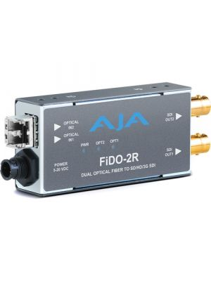 AJA 2-Channel Multi-Mode LC Fiber to 3G-SDI Receiver
