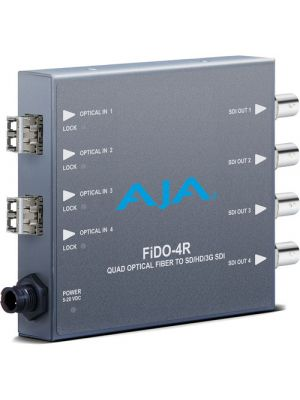 AJA 4-Channel Multi-Mode LC Fiber to 3G-SDI Receiver