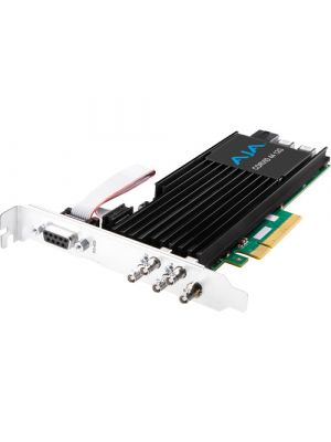 AJA Corvid 44 12G PCIe 4-Channel 12G-SDI Mini-BNC I/O Card (Tall Bracket, Fan, Cables Included)