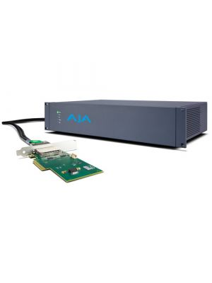 AJA Corvid Ultra External 2RU Chassis Video Processor with PCIe Card and Connecting Cable